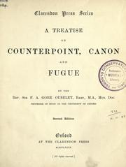 Cover of: A treatise on counterpoint, canon and fugue