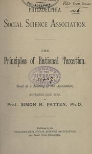 Cover of: Principles of rational taxation
