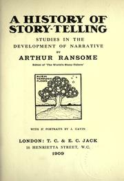 A history of story-telling by John Arthur Ransome Marriott
