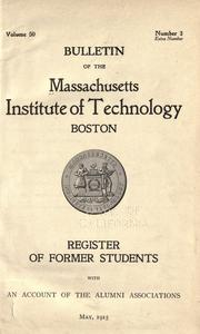 Cover of: Register of former students with an account of the alumni associations, May 1915