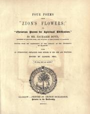 Cover of: Four Poems From Zion's Flowers