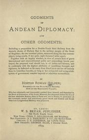 Cover of: Oddments of Andean diplomacy