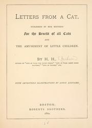 Cover of: Letters from a cat: published by her mistress for the benefit of all cats and the amusement of little children