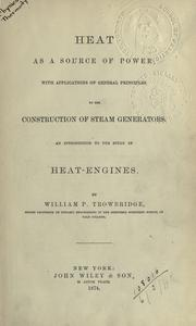 Cover of: Heat as a source of power