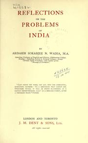Cover of: Reflections on the problems of India