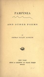 Cover of: Pampinea and other poems