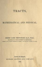 Cover of: Tracts, mathematical and physical