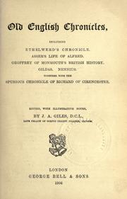 Cover of: Old English chronicles | J. A. Giles