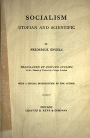 Cover of: Socialism, Utopian and scientific | Friedrich Engels