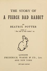 Cover of: The story of a fierce bad rabbit