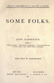 Cover of: Some folks