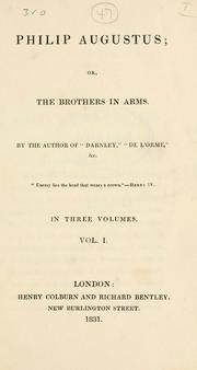 Cover of: Philip Augustus: or The brothers in arms.