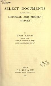 Cover of: Select documents illustrating medieval and modern history