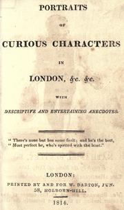 Cover of: Portraits of curious characters in London, &c. &c |