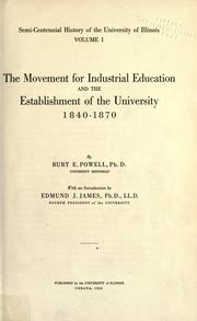 Cover of: Semi-centennial history of the University of Illinois