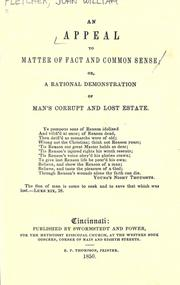 An appeal to matter of fact and common sense by Fletcher, John