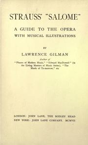 "Strauss' ""Salome"" by Gilman, Lawrence"