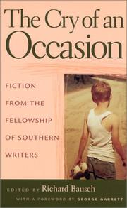 Cover of: The Cry of an Occasion: Fiction from the Fellowship of Southern Writers