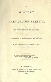 Cover of: A history of Harvard University