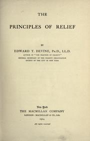 Cover of: The principles of relief