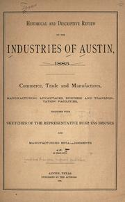 Cover of: Historical and descriptive review of the industries of Austin, 1885 by
