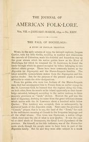 Cover of: The fall of Hochelaga: a study of popular tradition