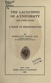Cover of: The launching of a university