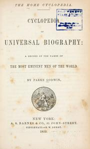 Cover of: Cyclopedia of the universal biography