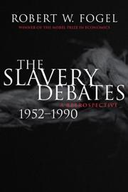 Cover of: The Slavery Debates, 1952-1990