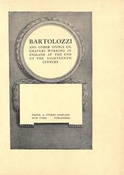 Cover of: Bartolozzi and other stipple engravers working in England at the end of the eighteenth century