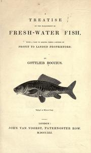Cover of: A treatise on the management of fresh-water fish