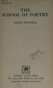 Cover of: The school of poetry