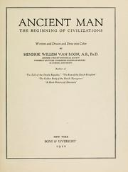 Cover of: Ancient man
