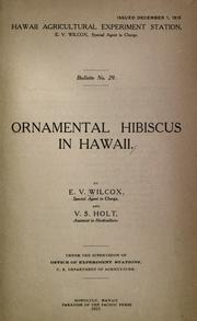Cover of: Ornamental hibiscus in Hawaii