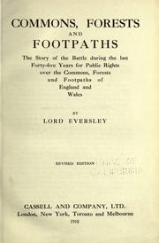 Cover of: Commons, forests and footpaths
