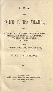 Cover of: From the Pacific to the Atlantic