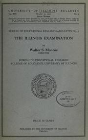 Cover of: The Illinois examination