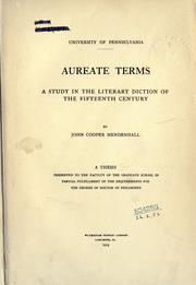 Aureate terms by John Cooper Mendenhall