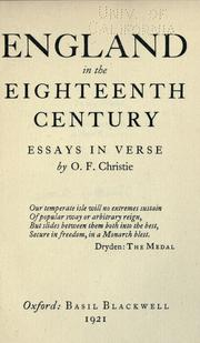 Cover of: England in the eighteenth century