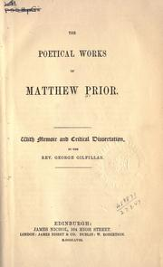 Cover of: Poetical works, with memoir and critical disseration by George Gilfillan