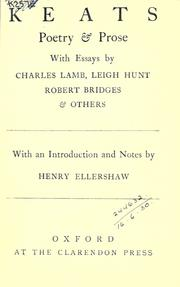 Cover of: Poetry & prose, with essays by Charles Lamb, Leigh Hunt, Robert Bridges & others: with an introduction and notes by Henry Ellershaw.