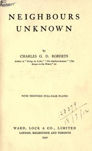 Cover of: Neighbours unknown