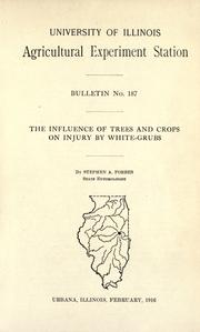 Cover of: The influence of trees and crops on injury by white-grubs