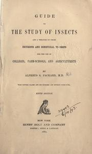 Cover of: Guide to the study of insects