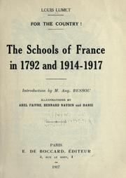Cover of: The schools of France in 1792 and 1914-1917