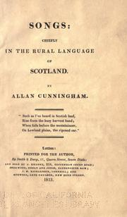Cover of: Songs: chiefly in the rural language of Scotland.