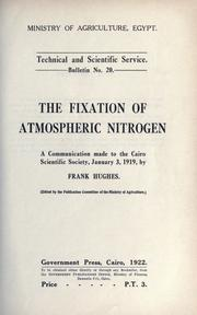 Cover of: The fixation of atmospheric nitrogen