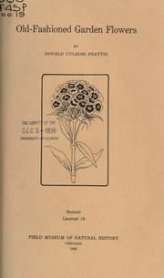 Cover of: Old-fashioned garden flowers