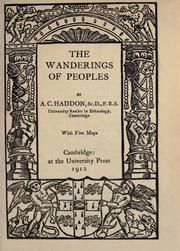 The wanderings of peoples by Alfred C. Haddon
