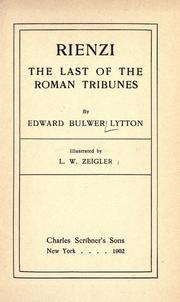 Cover of: Rienzi: the last of the Roman tribunes